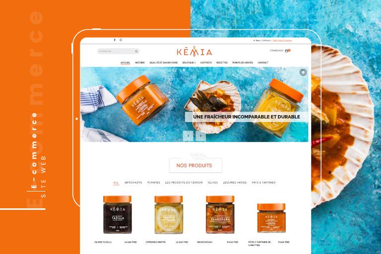 Kémia: Site de vente en ligne des légumes, fruits et tomates